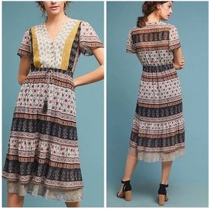 Anthropologie Provençal Midi Dress